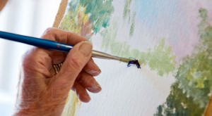 A picture of someone painting