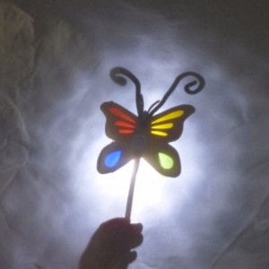 Shadow puppet butterfly