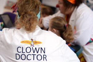 Dr Christobell Misschief's back with Clown Doctor on her white coat