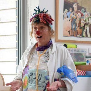 Chris Daude, Suffolk Artlink's original clown doctor