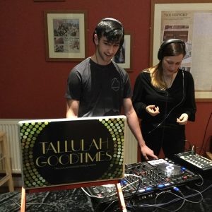 Young DJ and Tallulah Goodtimes at the decks