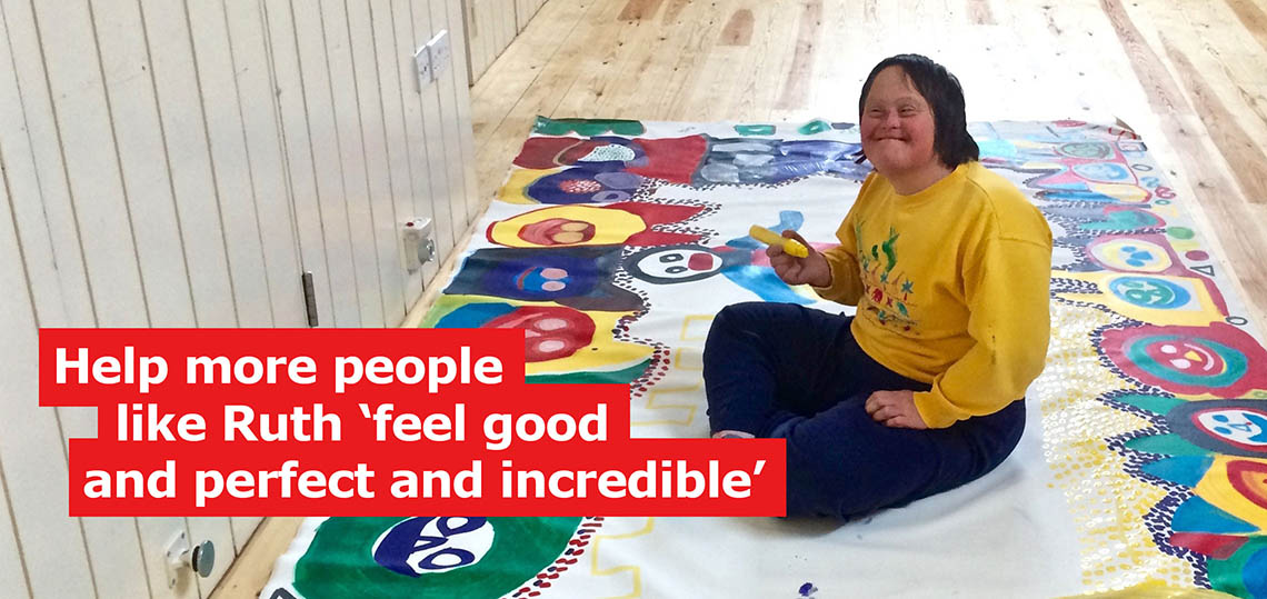 a regular student on JumpstART, our arts course for people with learning disabilities.