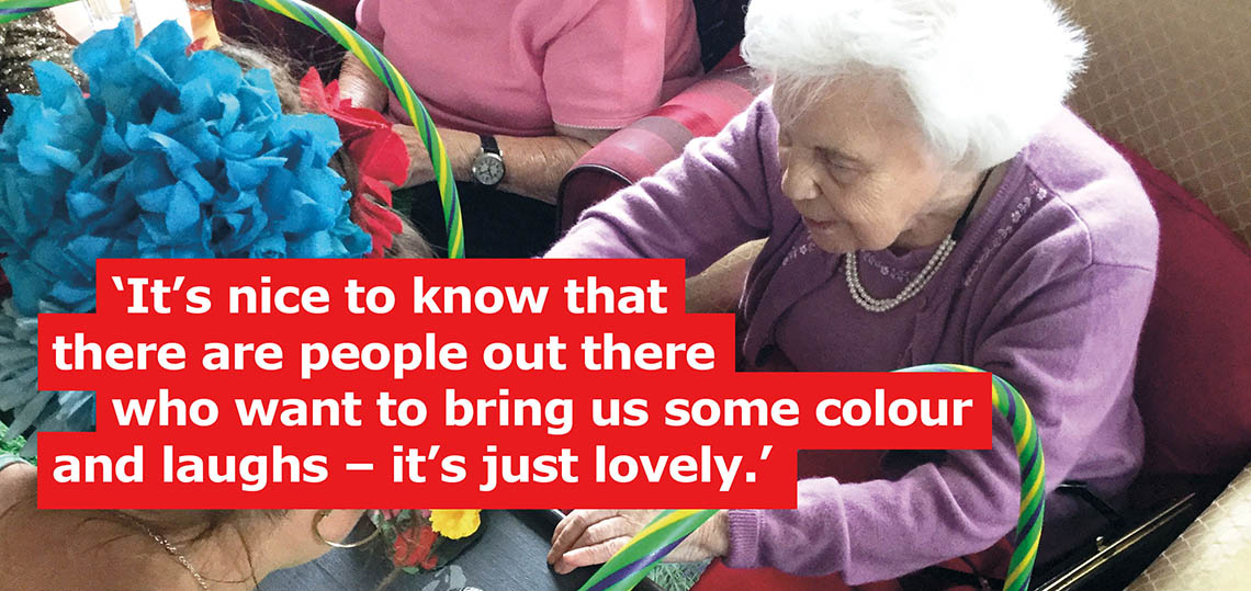 Residents at Prince of Wales Residential Home enjoyed one of our many artist visits for older people.
