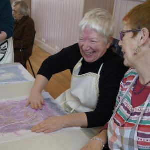 Participants enjoying a Make, Do & Friends get-together